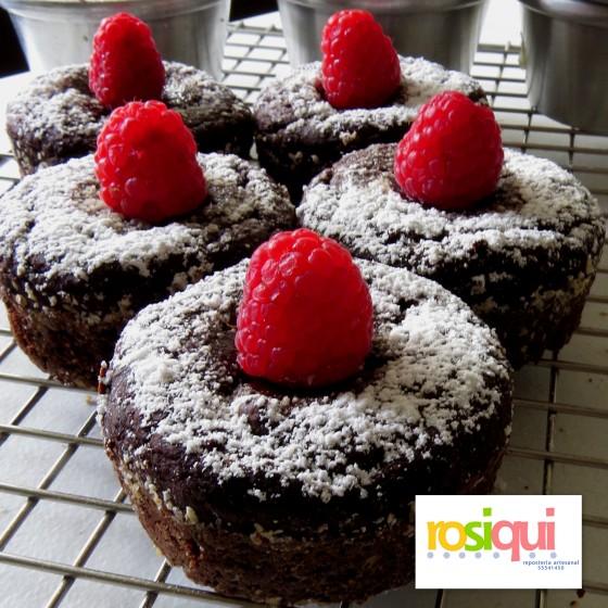 muffins brownie de chocolate