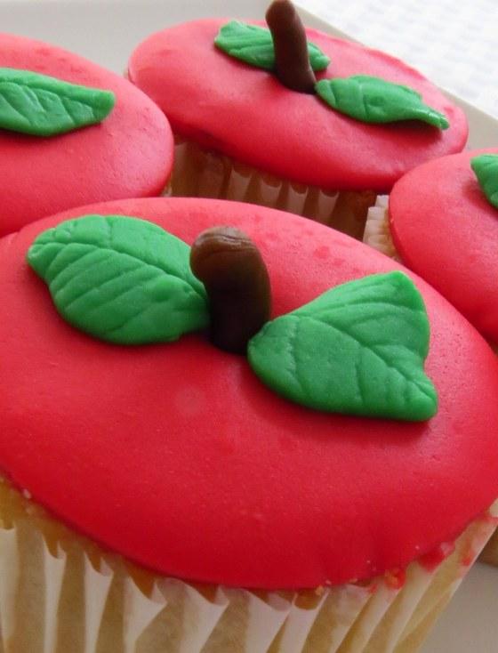 Cupcakes de manzana para el día del maestro