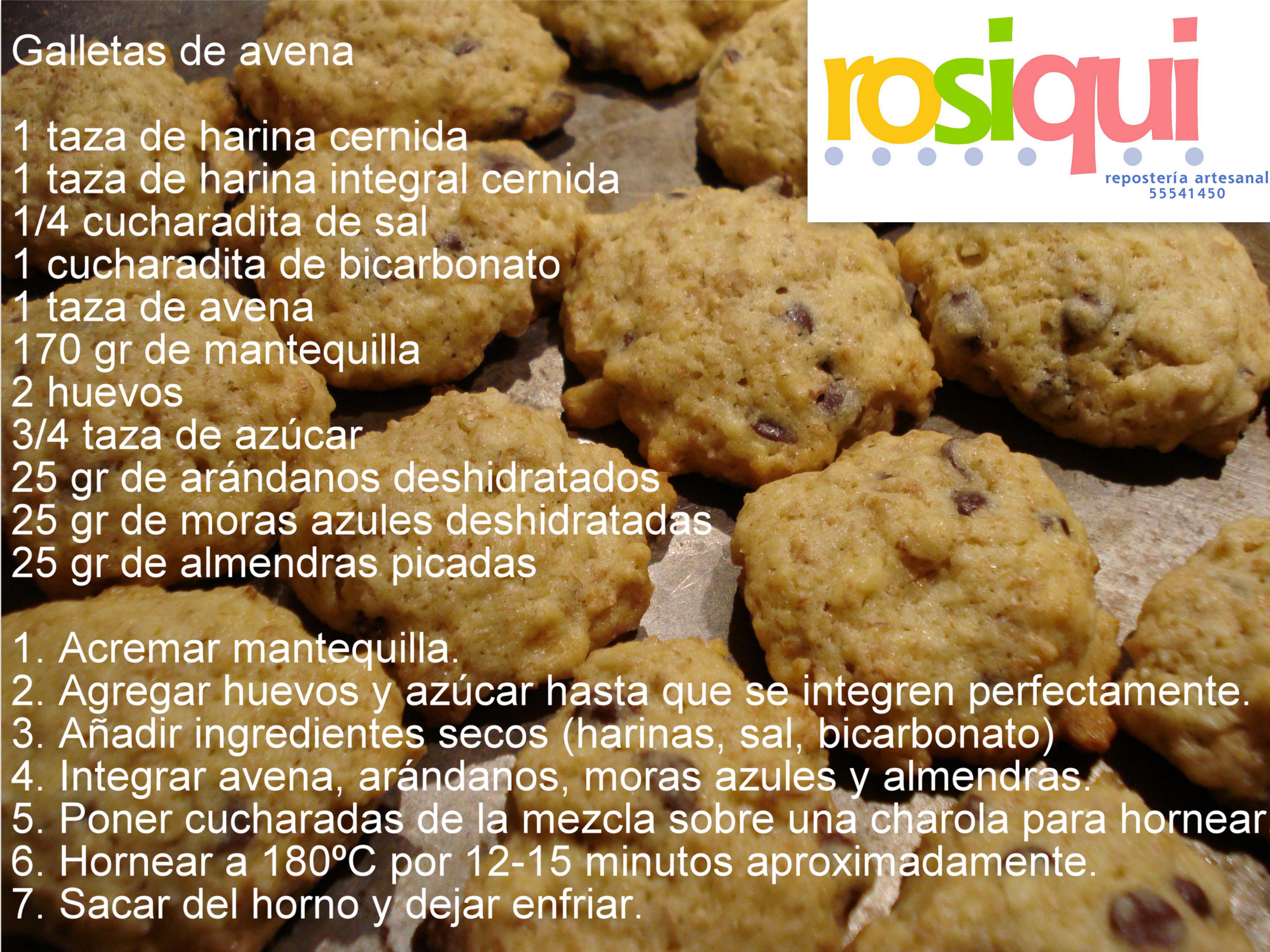 Galletas De Avena Rosiqui Healthy Chef