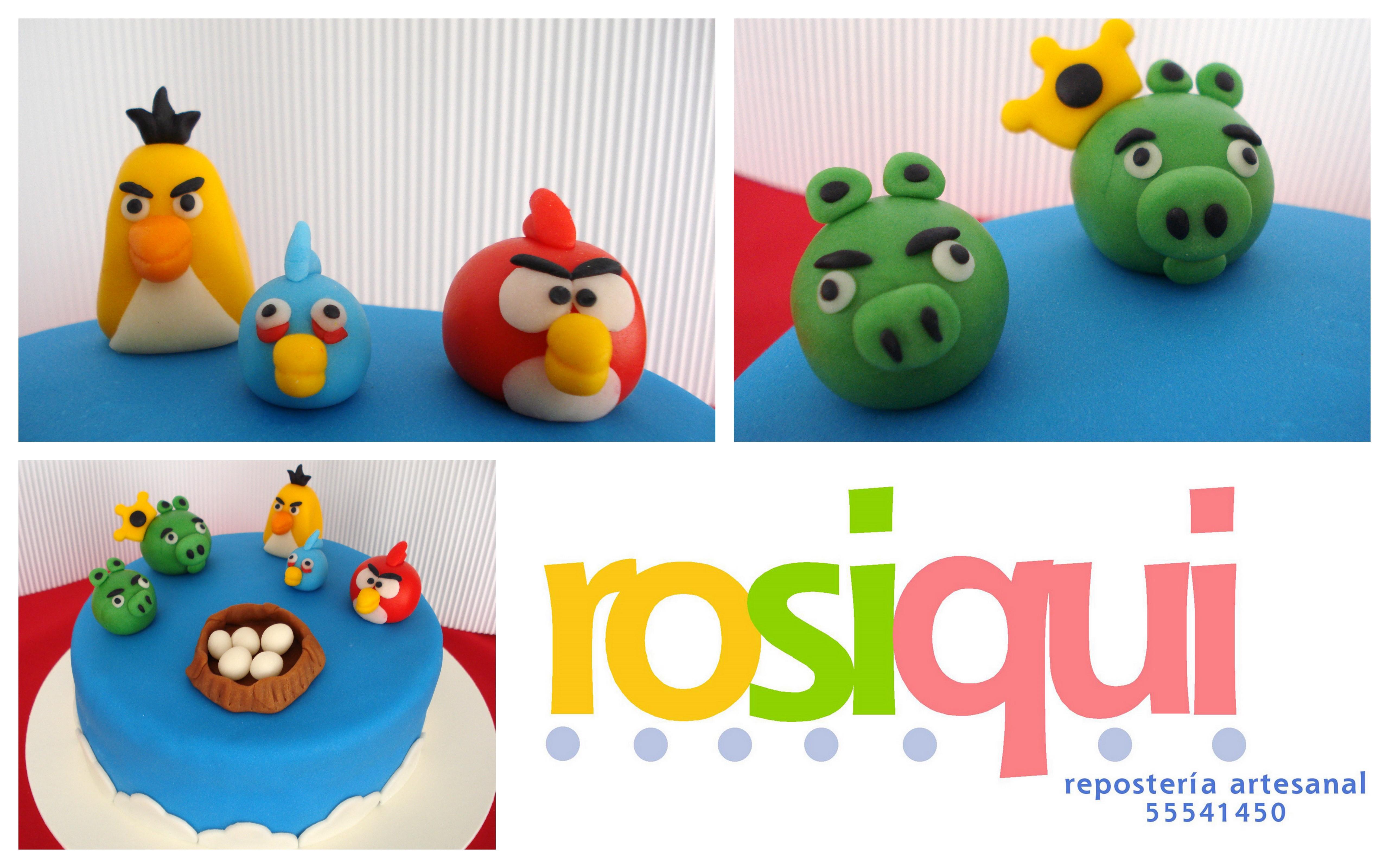 Pasteles De Fondant Pasteles De Fondant Angry Birds Pasteles Decorados