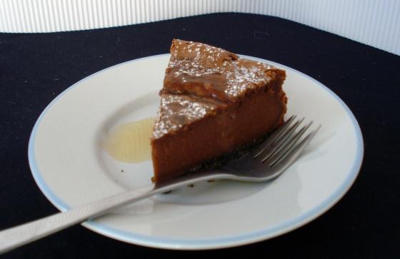 rebanada de cheesecake irlandés