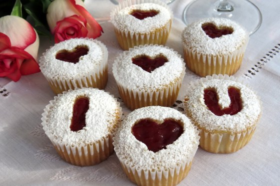 Muffins San Valentín