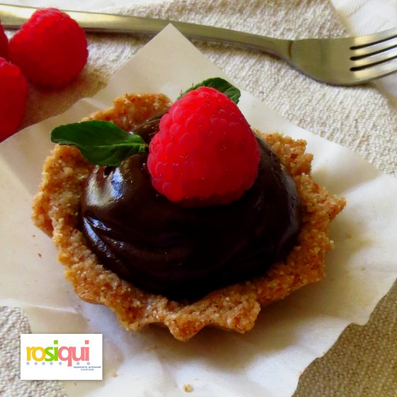 Mini tarta de choco saludable